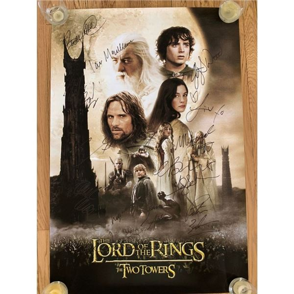 Signed Lord Of The Rings: The Two Towers Movie Poster