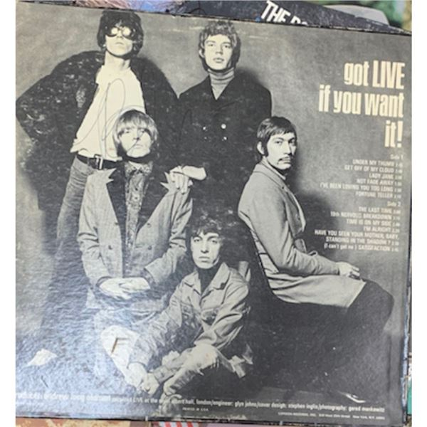 Signed Rolling Stones Got Live