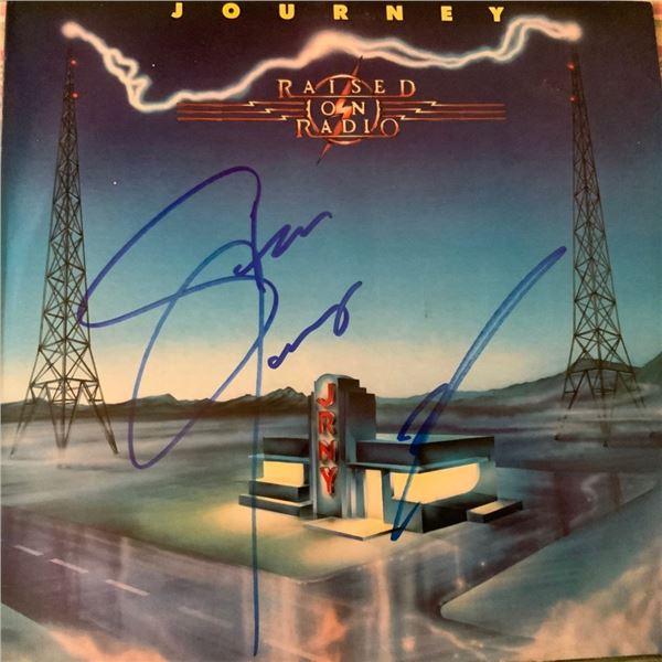 Signed Journey Raised On Radio Album Cover