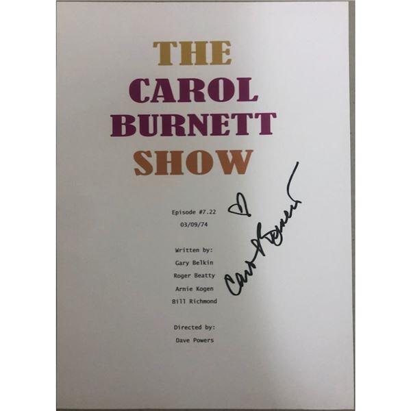 Signed Carol Burnett Show Script