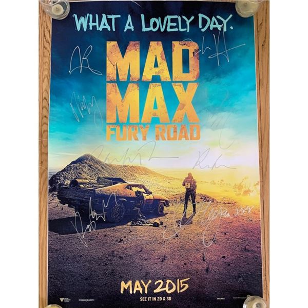 Signed Mad Max Fury Road Movie Poster