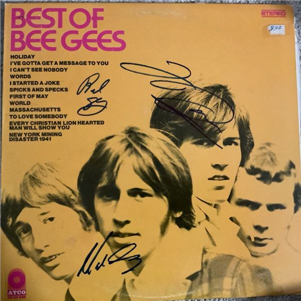 Signed Best Of Bee Gees Album Cover