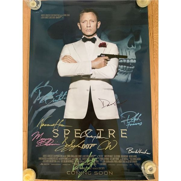 Signed Spectre 007 Movie Poster