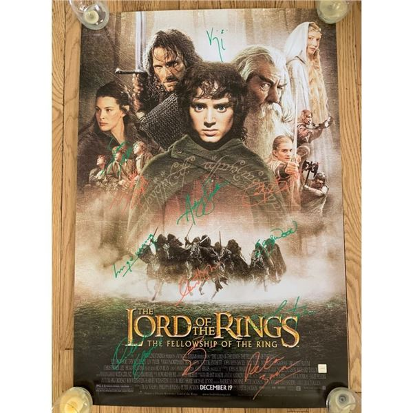 Signed Lord of the Rings: The Fellowship of the Ring Movie Poster
