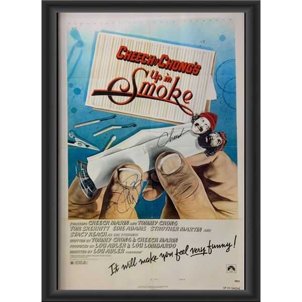 Signed Cheech and Chong's Up In Smoke Movie Poster