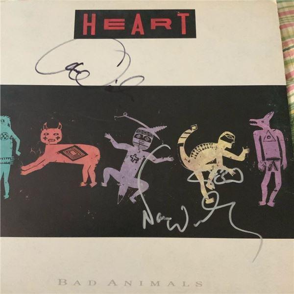 Signed Heart Bad Animals Album Cover