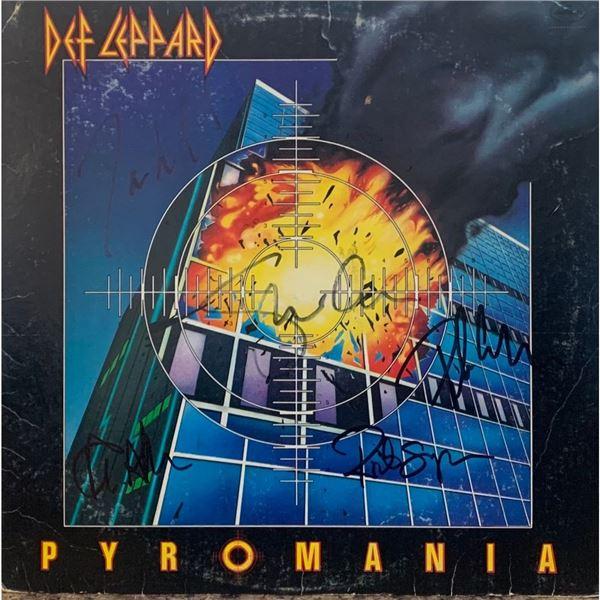 Signed Def Leppard Pyromania Album Cover