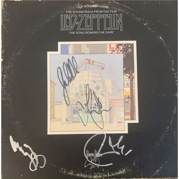 Signed Led Zeppelin The Song Remains The Same Album Cover