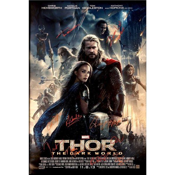 Signed Thor: The Dark World Movie Poster