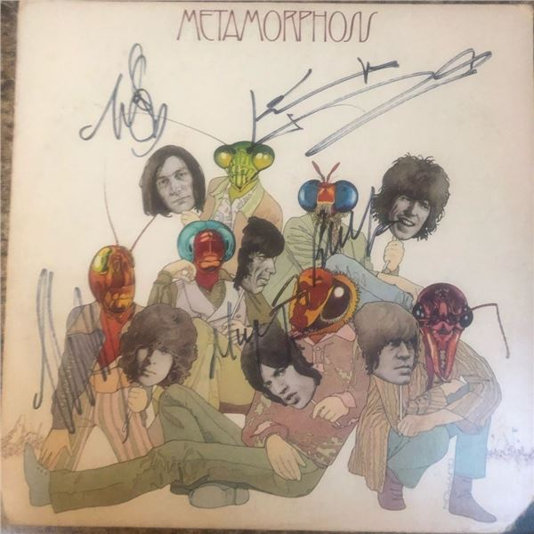 Signed Rolling Stones Metamorphosis Album Cover
