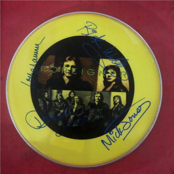 Signed Foreigner Drumhead