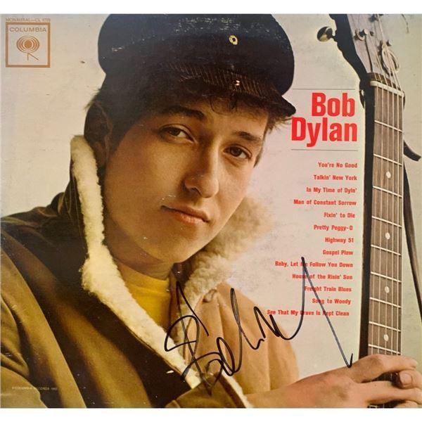 Signed Bob Dylan Debut Album Cover