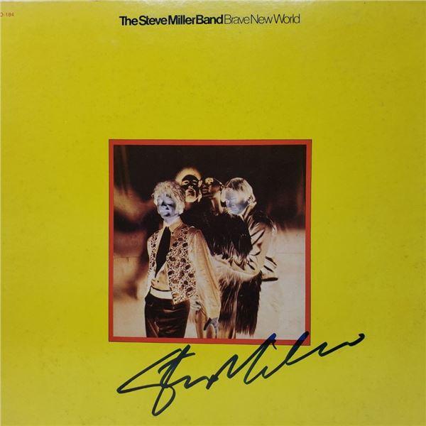 Signed Steve Miller Band, Brave New World Album Cover