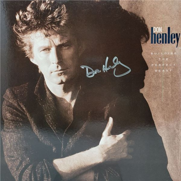 Signed Don Henley Building The Perfect Beast Album Cover
