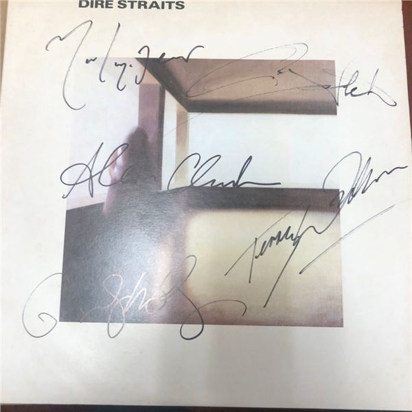 Signed Dire Straits Album Cover
