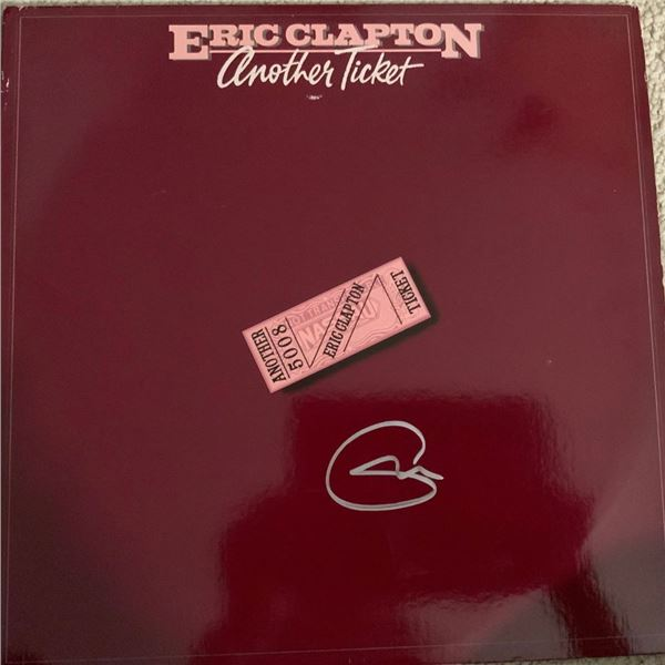 Signed Eric Clapton Another Ticket Album