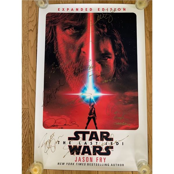 Signed The Last Jedi Movie Poster