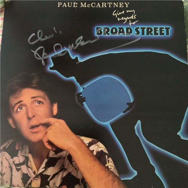 Signed Paul McCartney Give My Regards to Broad Street Album Cover