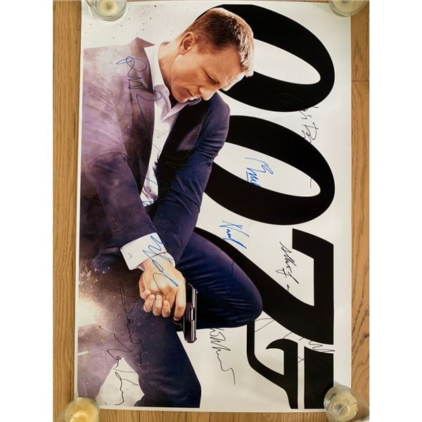 Signed 007 Movie Poster