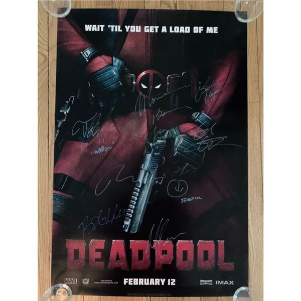 Signed Deadpool Movie Poster