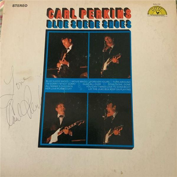 Signed Carl Perkins Carl Perkins Blue Suede Shoes Album Cover