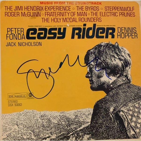 Signed Easy Rider Soundtrack Album Cover