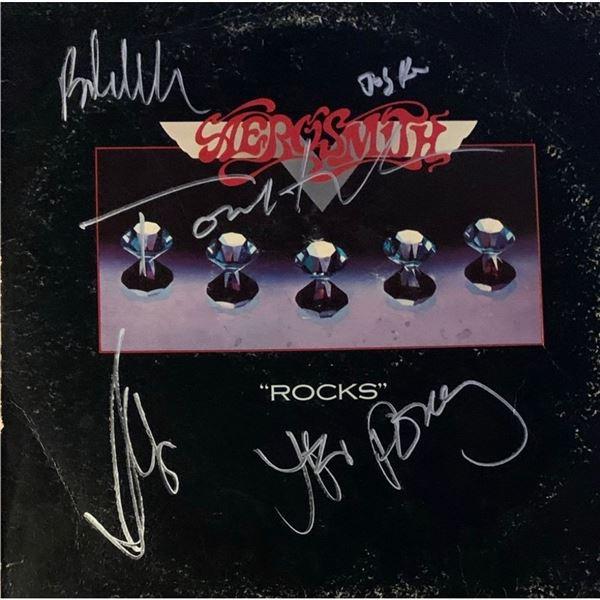 Signed Aerosmith Rocks Album Cover