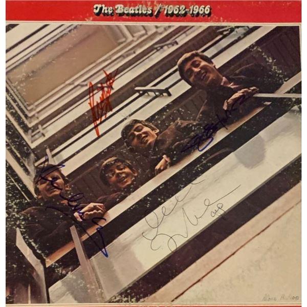 Signed Beatles 1962-1966 Album Cover