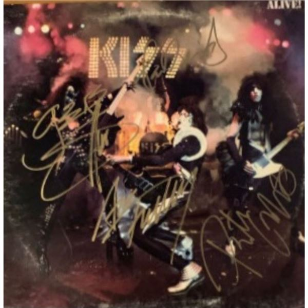 Signed Kiss Alive Album Cover