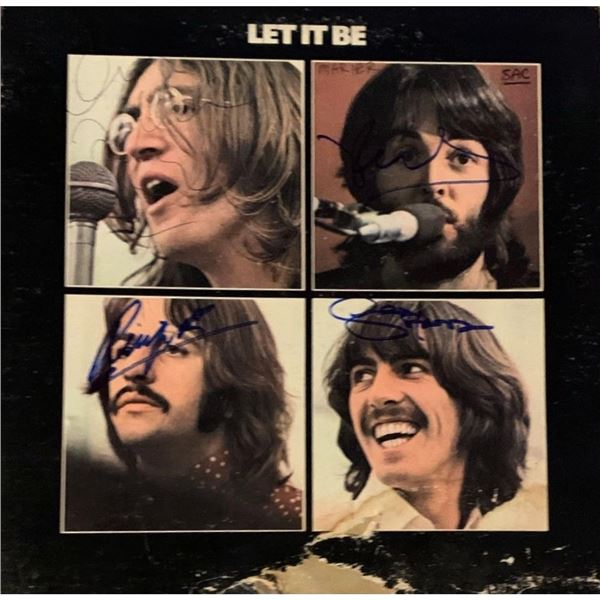 Signed Beatles Let It Be Album Cover