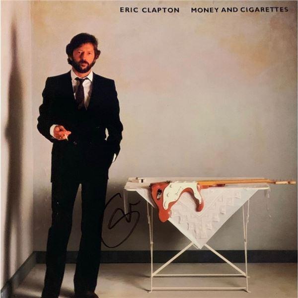 Signed Eric ClaptonMoney And Cigarettes Album Cover