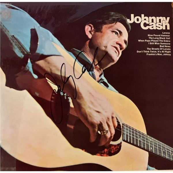 Signed Johnny Cash - RARE - Album Cover