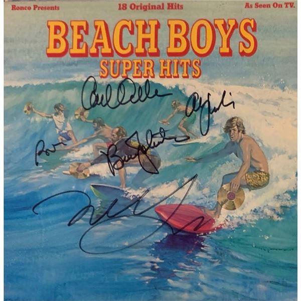Signed Beach Boys Super Hits Album Cover