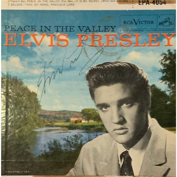 Signed Elvis Presley Peace In The Valley Album Cover