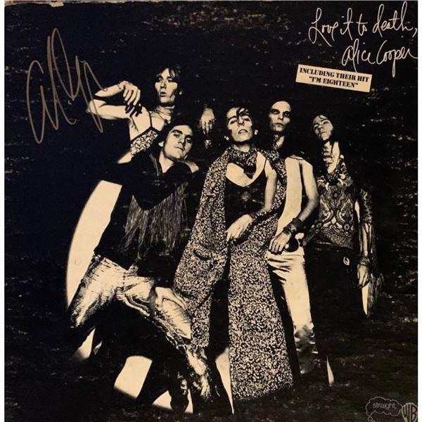Signed Alice Cooper Love It To Death Album Cover