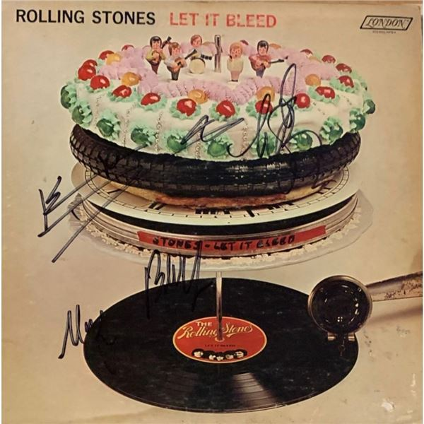 Signed Rolling Stones Let It Bleed Albun Cover