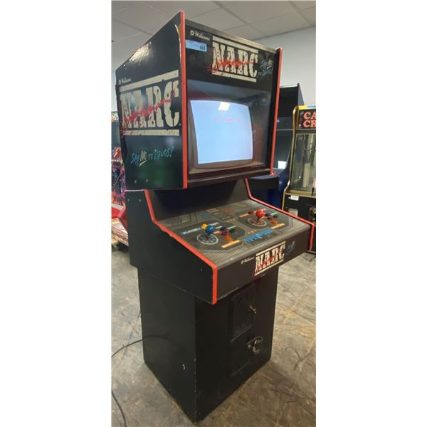 """NARC Arcade Machine By Williams (Turns on but screen displays """"No Signal In"""")"""