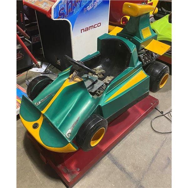 Green Race Car Kiddie Ride