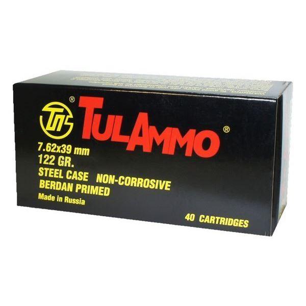 TULAMMO 7.62X39 122GR FMJ STL - 200 RDS