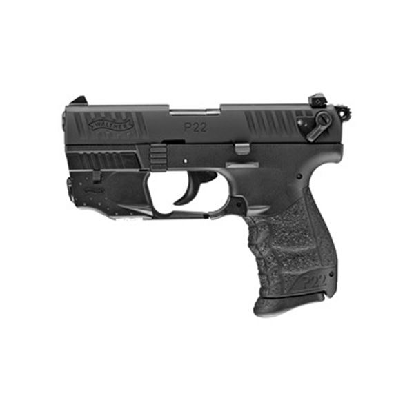 "WAL P22Q 22LR 3.4"" BLK W/LASER 10RD"