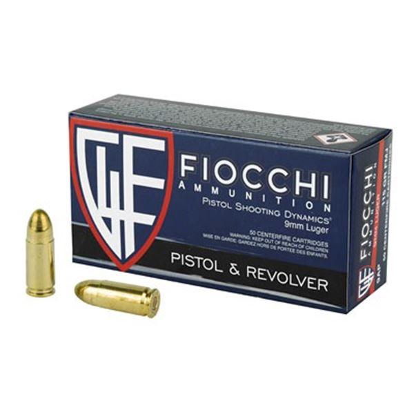 FIOCCHI 9MM 115GR FMJ - 100 RDS