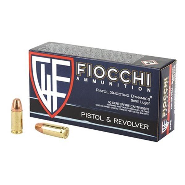 FIOCCHI 9MM 158GR FMJ - 50 RDS