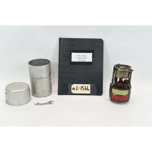 M-1950 Gasoline 1-Burner Stove w/ Metal Case & Manual