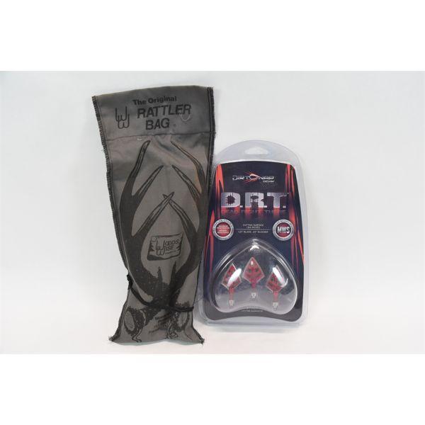 Dirt Nap 100/125 Grain Broadheads & The Original Rattle Bag