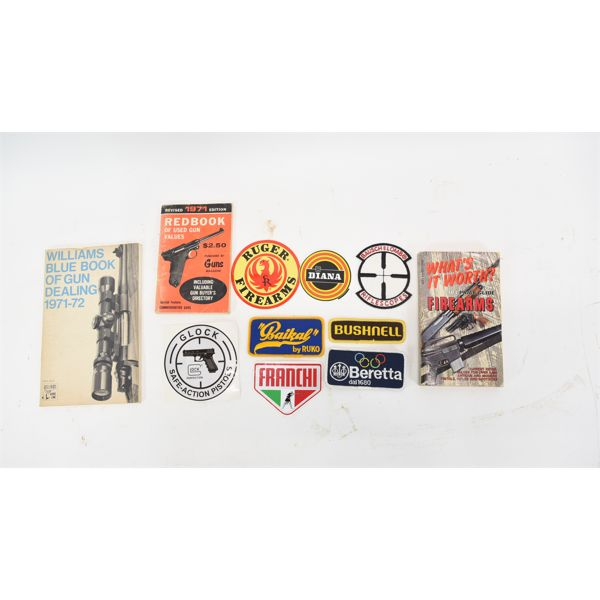 Box Lot Books / Decals / Patches