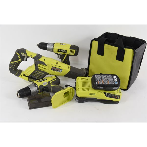 Box Lot Ryobi 18V ONE+ Cordless Tools