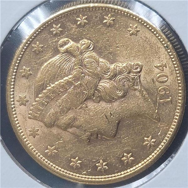1904-S 20$  Liberty Head Double Eagle Gold Coin CU