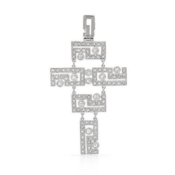 18k White Gold 0.66CTW Diamond Pendant, (SI2-SI3/H-I)
