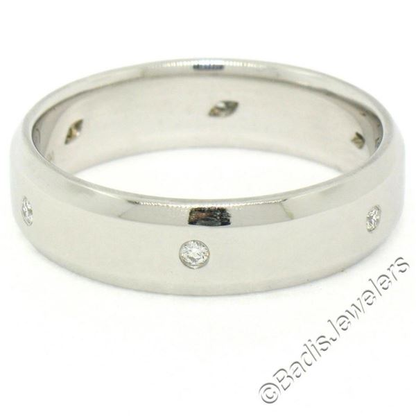Men's Jeff Cooper Platinum 0.12 ctw Round Diamond 5.8mm Beveled Band Ring