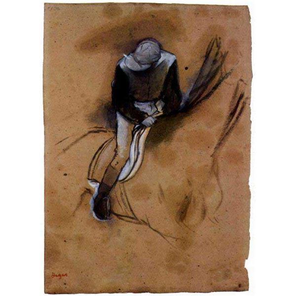 Edgar Degas - Jockey Forward Flexed Standing In The Saddle